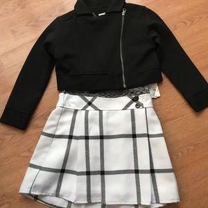 Jacket & Plaid Dress Outfit (2pc)